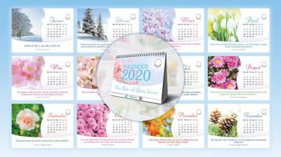 Aufstellkalender 2020 in DIN A6