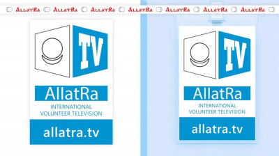 Badge AllatRa TV and Ribbon