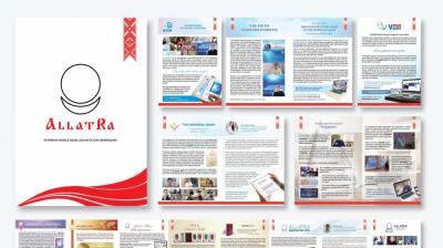 Broschüre über die Internationale gesellschaftliche Bewegung ALLATRA