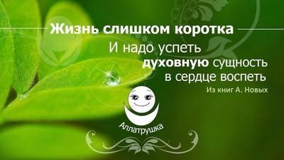 Добрый мотиватор с Аллатрушкой! Жизнь слишком коротка и надо успеть духовную сущность в сердце воспеть