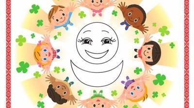 Добрый мотиватор с Аллатрушкой на английском «Доброта – это дарить радость окружающим»