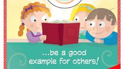 Добрый мотиватор с Аллатрушкой на английском «Доброта – это подавать хороший пример другим»