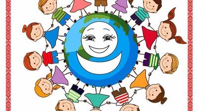 Добрый мотиватор с Аллатрушкой на английском «Доброта – это помогать друг другу»