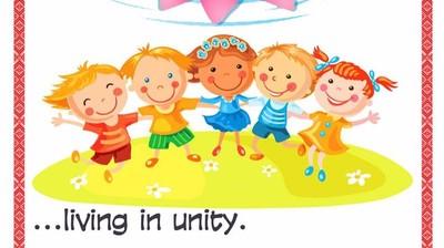 Добрый мотиватор с Аллатрушкой на английском «Доброта – это жить в единстве»