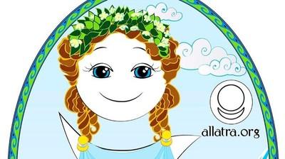 Добрый мотиватор с Аллатрушкой на английском «Греческая мудрость - Чистота – это добродетель»