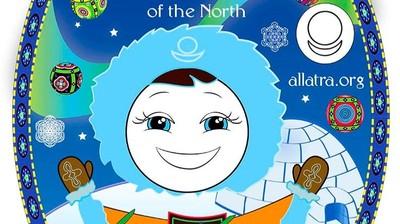 Добрый мотиватор с Аллатрушкой на английском «Мудрость народов севера - Дружба силу добавляет»