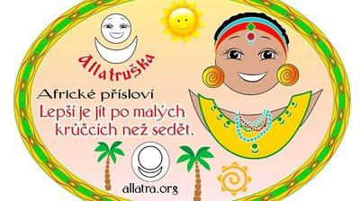 Добрый мотиватор с Аллатрушкой на чешском «Африканская мудрость - Лучше идти мелкими шагами, чем сидеть»