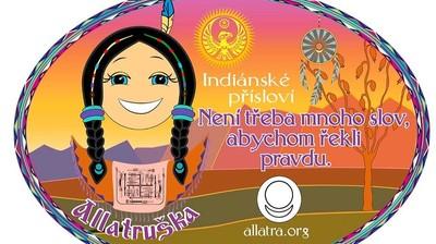 Добрый мотиватор с Аллатрушкой на чешском «Индейская мудрость - Не нужно много слов, чтобы сказать правду»