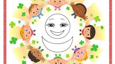 Добрый мотиватор с Аллатрушкой на французском «Доброта – это дарить радость окружающим»