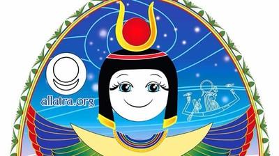 Добрый мотиватор с Аллатрушкой на греческом «Египетская мудрость - Лишь тот, кто честен и добр, благополучно достигает берега»