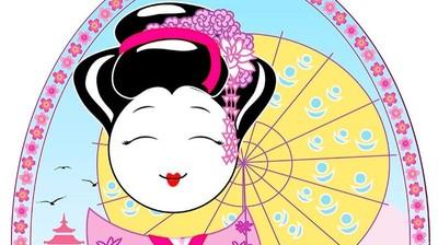 Добрый мотиватор с Аллатрушкой на французском «Японская мудрость - Дела говорят громче слов»