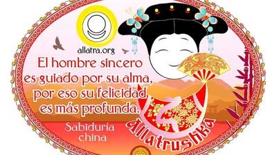 Добрый мотиватор с Аллатрушкой на испанском «Китайская мудрость - Честный человек душой возвышен, поэтому его счастье глубоко»