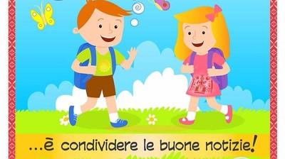 Добрый мотиватор с Аллатрушкой на итальянском «Доброта – это делиться хорошими новостями»