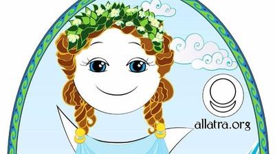Добрый мотиватор с Аллатрушкой на польском «Греческая мудрость - Чистота – это добродетель»