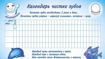 Календарь чистки зубов с Аллатрушкой