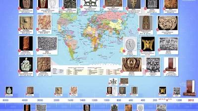"""Карта-инфографика """"Изображение у разных народов духовного контроля человеком своих Сущностей"""""""