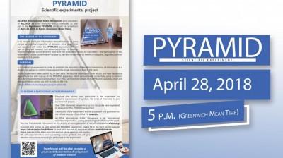Листовка на английском языке Научно-экспериментальный проект Пирамида