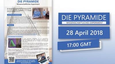Листовка Научно-экспериментальный проект Пирамида на немецком