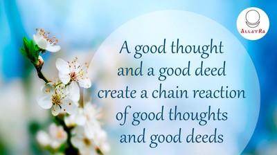Мотиватор. Хорошая мысль и хорошее дело порождает... На английском