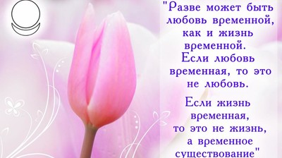 Мотиватор. Разве может быть Любовь временной, как и Жизнь временной