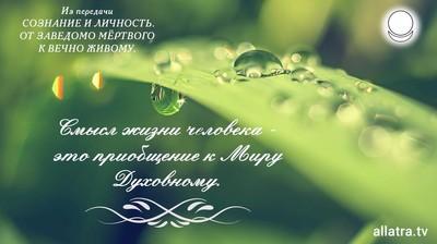 Мотиватор. Смысл жизни человека - это приобщение к Миру Духовному.