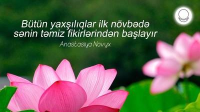 Мотиватор. Всё хорошее начинается с чистоты твоих мыслей! На азербайджанском