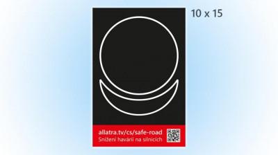 Nálepka (pohlednice) Snížení havárií na silnicích 10 x 15 cm