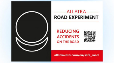 Sticker (postcard) Reducing  accidents on the road