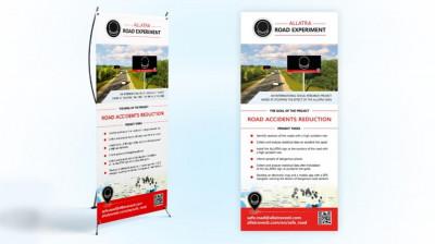 X banner Road experiment