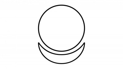 Знак АллатРа на белом фоне